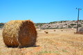 Hay bales on a field Stock Images