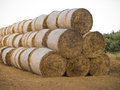 Hay bales pyramid stack of Stock Photos