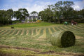 Hay,  Ireland, landscape, path, stalk, tractor, house, village, farm, paths Royalty Free Stock Photo