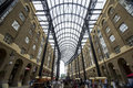 Hay s galleria inside the of a traditional building intervened to become an outside market in the middle because of the Royalty Free Stock Photos