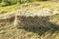 Hay stacks for front covers of magazines newspapers and billboards Royalty Free Stock Photos