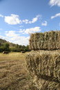 Hay stacks for front covers of magazines newspapers and billboards Stock Photo