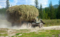 Hay transportation Stock Photos