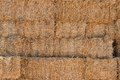 Hay a wall of bales Stock Photo