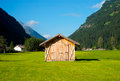 Hayloft in aurina valley south tirol italy Stock Photography