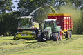 Haymaking, forage harvester Royalty Free Stock Image