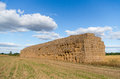 Haystack against a background of the sky Stock Images