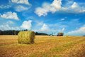 Haystack autumn harvest outdoor shot Stock Images