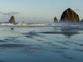 Haystack Rock, Cannon Beach, Oregon Royalty Free Stock Photo