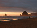 Haystack Rock - Cannon Beach, Oregon Royalty Free Stock Photo