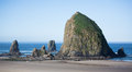 Haystack rock oregon on cannon beach Royalty Free Stock Image