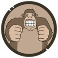 Hazard animal creative design of icon monkey Stock Image