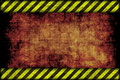 Hazard background warning lines black and yellow Royalty Free Stock Photos