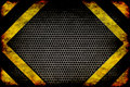Hazard background warning lines black and yellow Royalty Free Stock Photography
