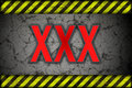 Hazard background xxx warning lines black and yellow Stock Photo