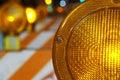 Orange construction or hazard light Royalty Free Stock Photo