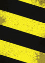 Hazard lines black and yellow with grunge effects Royalty Free Stock Photo
