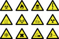 Hazard signs Royalty Free Stock Image