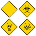 Hazard signs Stock Image