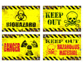 Hazard Signs Royalty Free Stock Photo