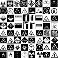 Hazard signs collection vector Stock Photos