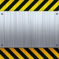 Hazard Stripes Brushed Metal Stock Image