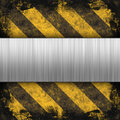 Hazard Stripes Brushed Metal Royalty Free Stock Photo