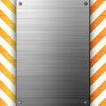 Hazard Stripes Brushed Metal Royalty Free Stock Image