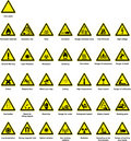 Hazard symbols Royalty Free Stock Photo