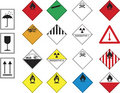 Hazard symbols Stock Photos