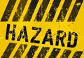 Hazard warning sign worn and grungy vector scalable eps Royalty Free Stock Image