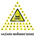 Hazard warning signs make your own sign with main central sign and forty related graphics on white background Royalty Free Stock Photography