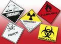 Hazard Warning Symbols Royalty Free Stock Image