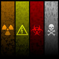 Hazardous banners Stock Images