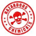 Hazardous chemicals vector stamp Royalty Free Stock Photo
