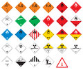Hazardous pictograms - goods signs Royalty Free Stock Photography