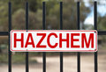 HAZCHEM Sign Royalty Free Stock Photo