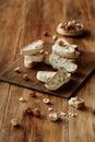 Hazelnut Biscotti Italian Biscuits Royalty Free Stock Photo