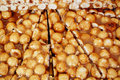 Hazelnut brittle pic of close up Stock Images