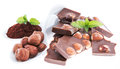 Hazelnut Chocolate isolated on white
