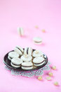 Hazelnut Macarons filled with Chocolate Ganache Royalty Free Stock Photo