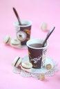 Hazelnut Macarons filled with Chocolate Ganache Royalty Free Stock Photo