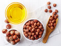 Hazelnut oil Royalty Free Stock Photo