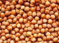 Hazelnuts background Royalty Free Stock Photo