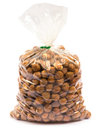 Hazelnuts in Bag Royalty Free Stock Photo