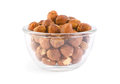 Hazelnuts in a bowl Royalty Free Stock Photos