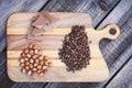 Hazelnuts,chocolate and coffee beans