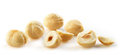 Hazelnuts closeup view of on white background Royalty Free Stock Photo
