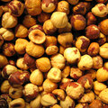Hazelnuts without shells Royalty Free Stock Photography