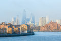 Hazy view of City of London Royalty Free Stock Photo